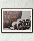 I Fought The Law framed print 40cm Sale - banksy Sale