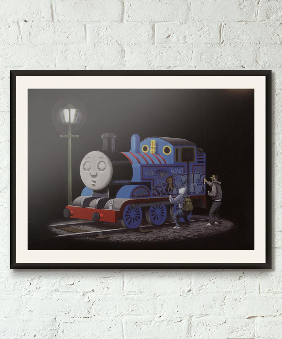 Thomas The Tank Engine framed print 40cm Sale - banksy