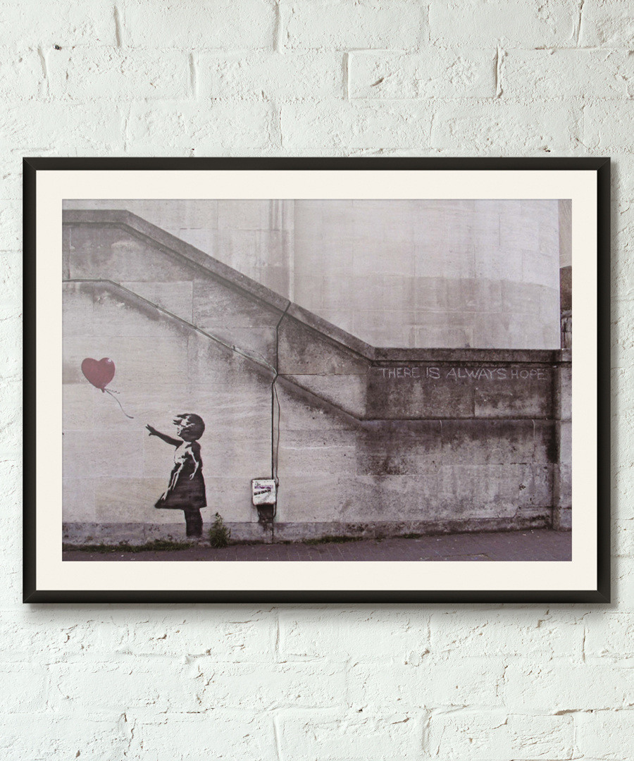Hope framed print 40cm Sale - banksy