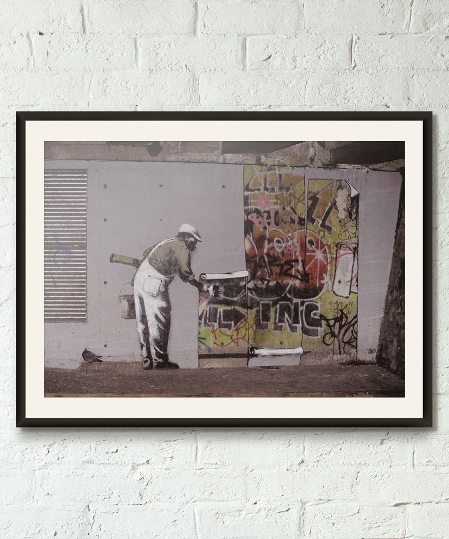 Cut And Paste framed print 40cm Sale - banksy