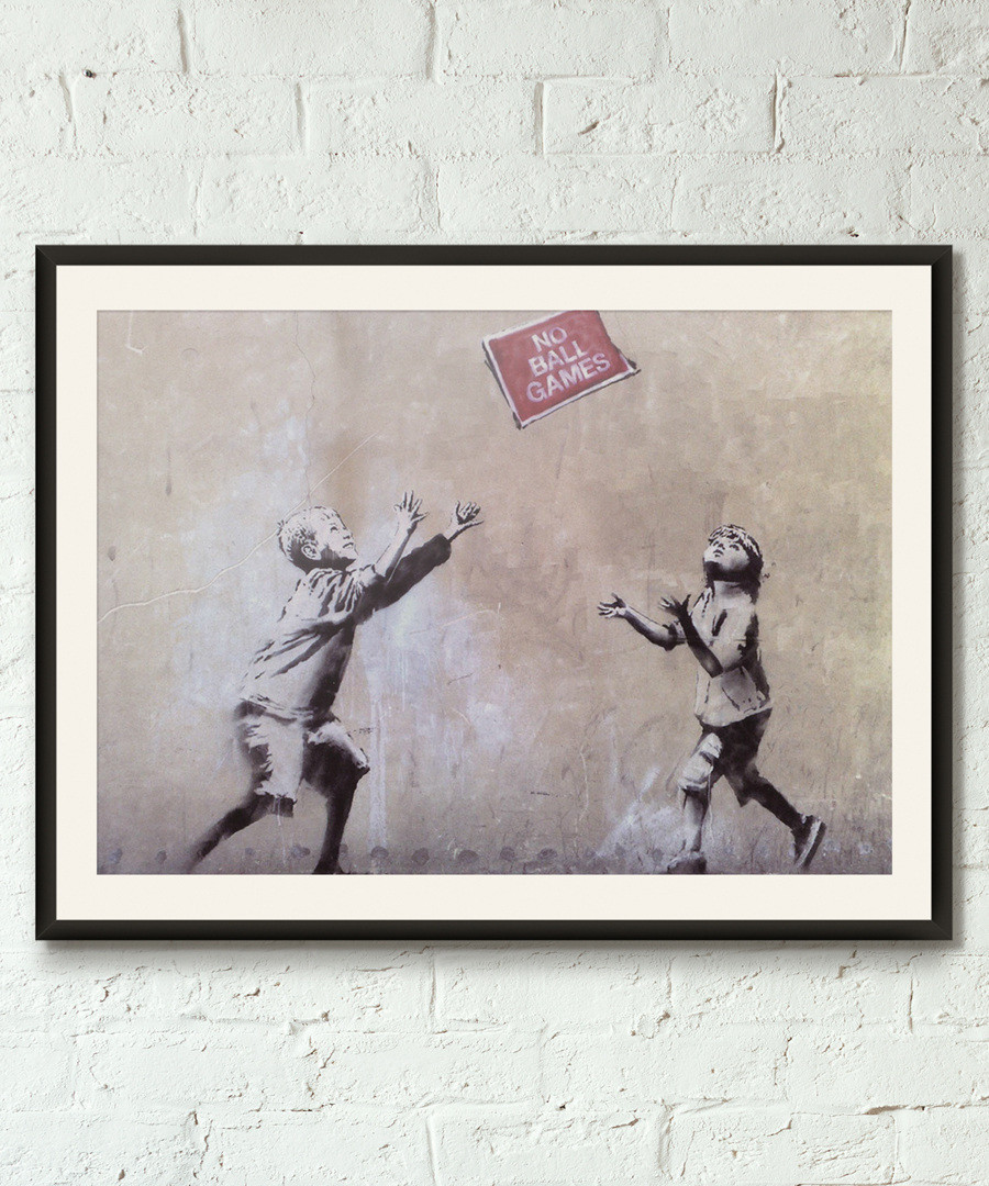 No Ball Game framed print 40cm Sale - banksy