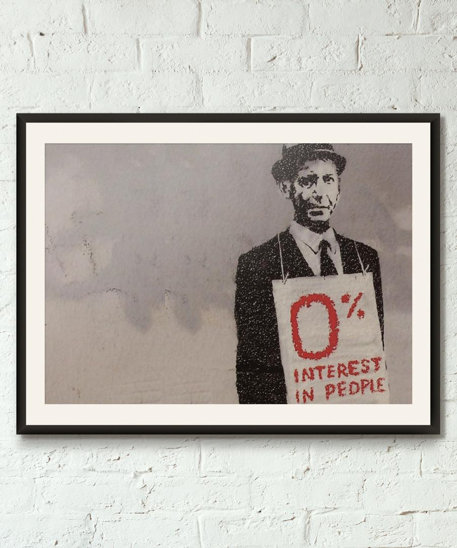 Banker framed print 40cm Sale - banksy