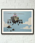 Happy Helicopters framed print 40cm Sale - banksy Sale