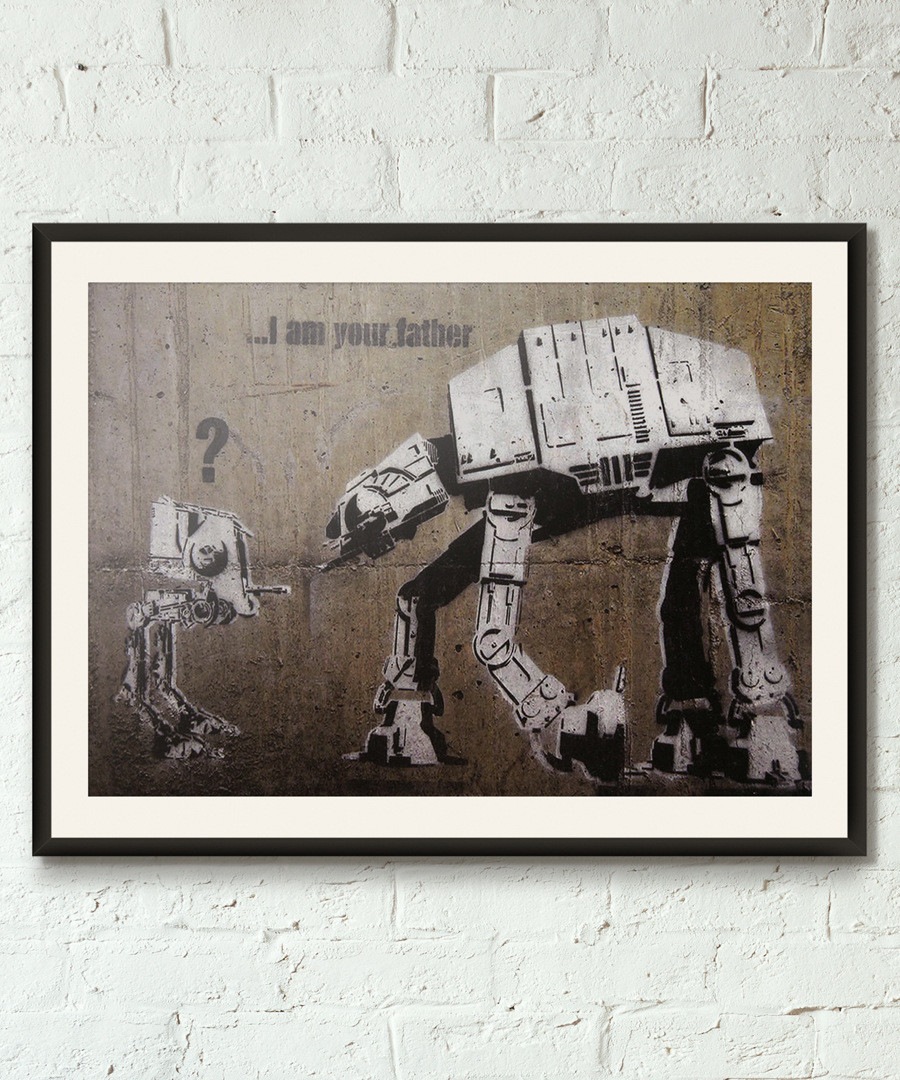 I Am Your Father framed print 40cm Sale - banksy