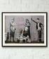 Old Skool Hipsters framed print 40cm Sale - banksy Sale