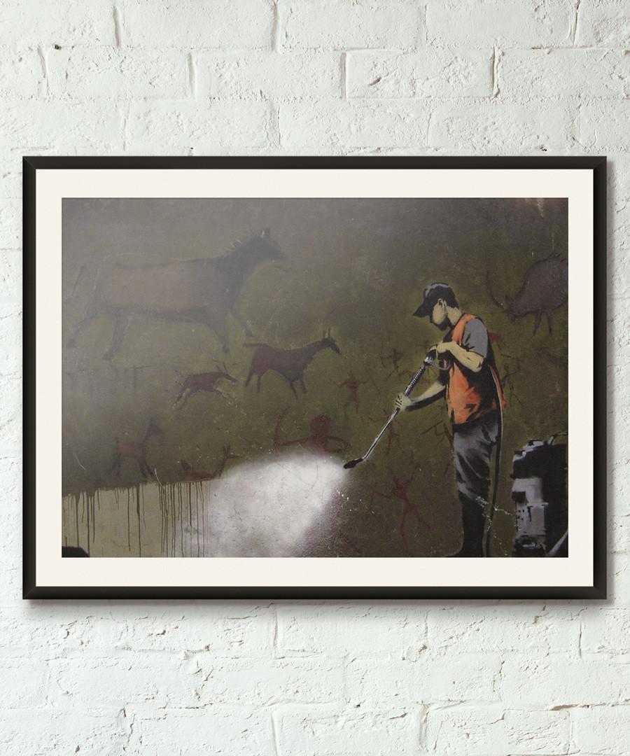 Lascaux Out framed print 40cm Sale - banksy