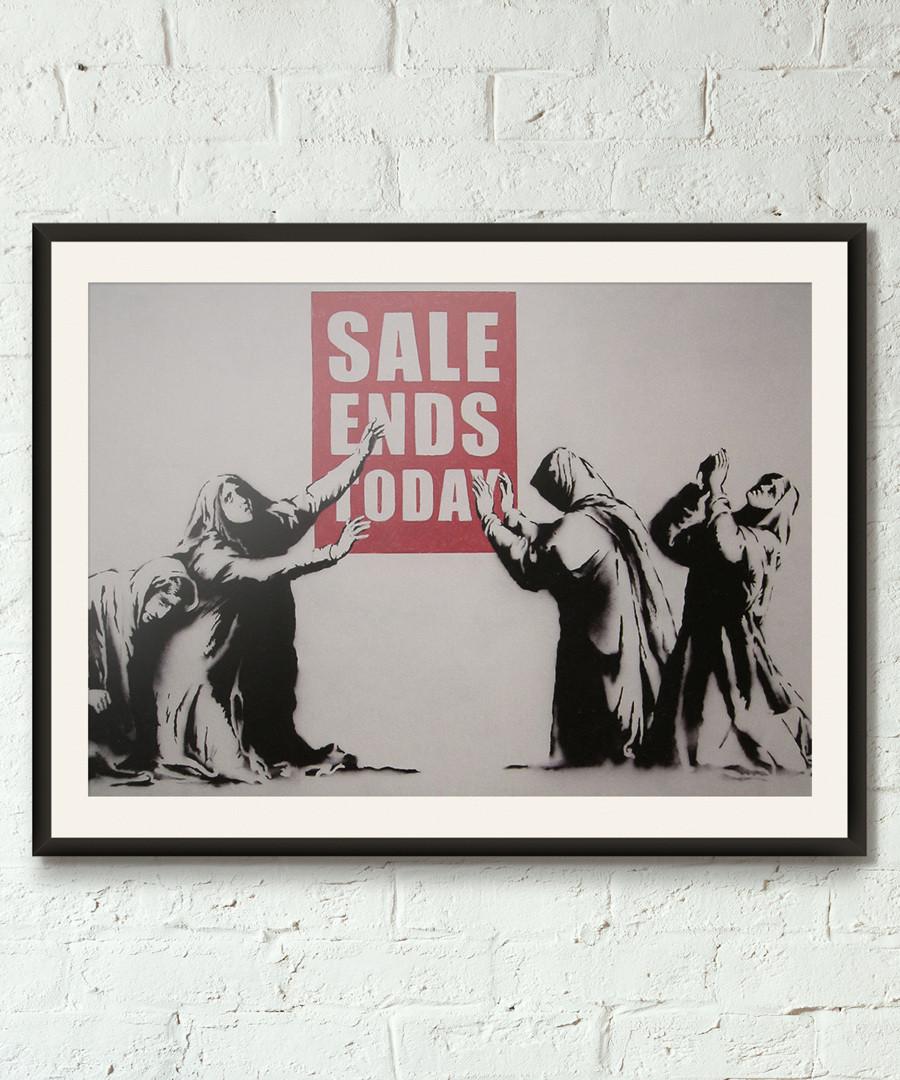Last Chance framed print 40cm Sale - banksy
