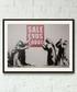 Last Chance framed print 40cm Sale - banksy Sale