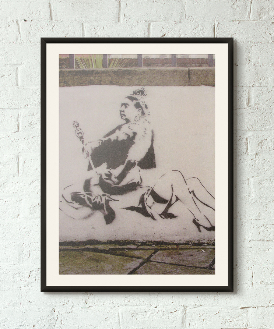 For Queen And Country framed print 40cm Sale - banksy