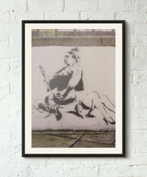 For Queen And Country framed print 40cm