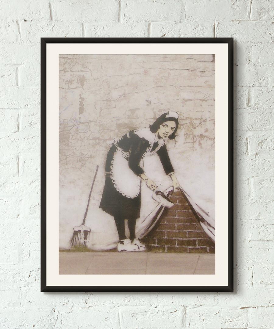 Sweeping It Behind The Curtain print 40cm Sale - banksy