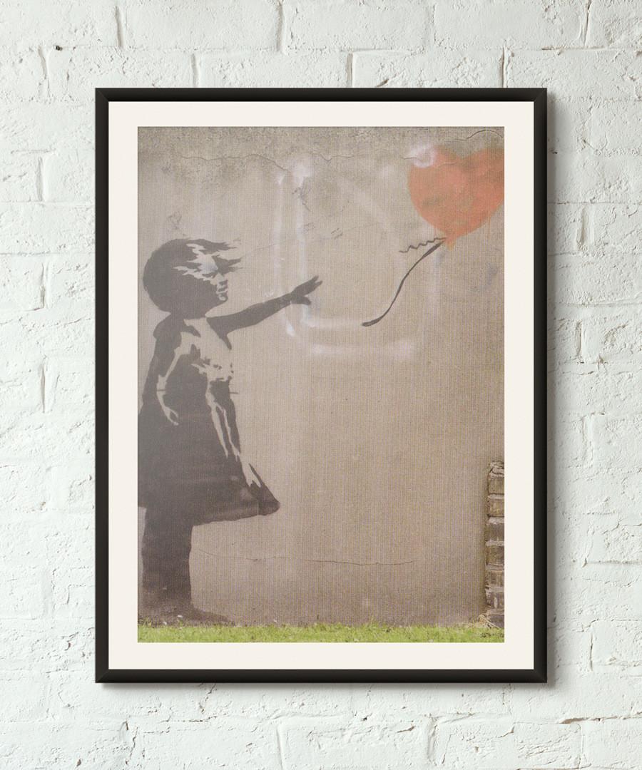 I Wuv U framed print 40cm Sale - banksy