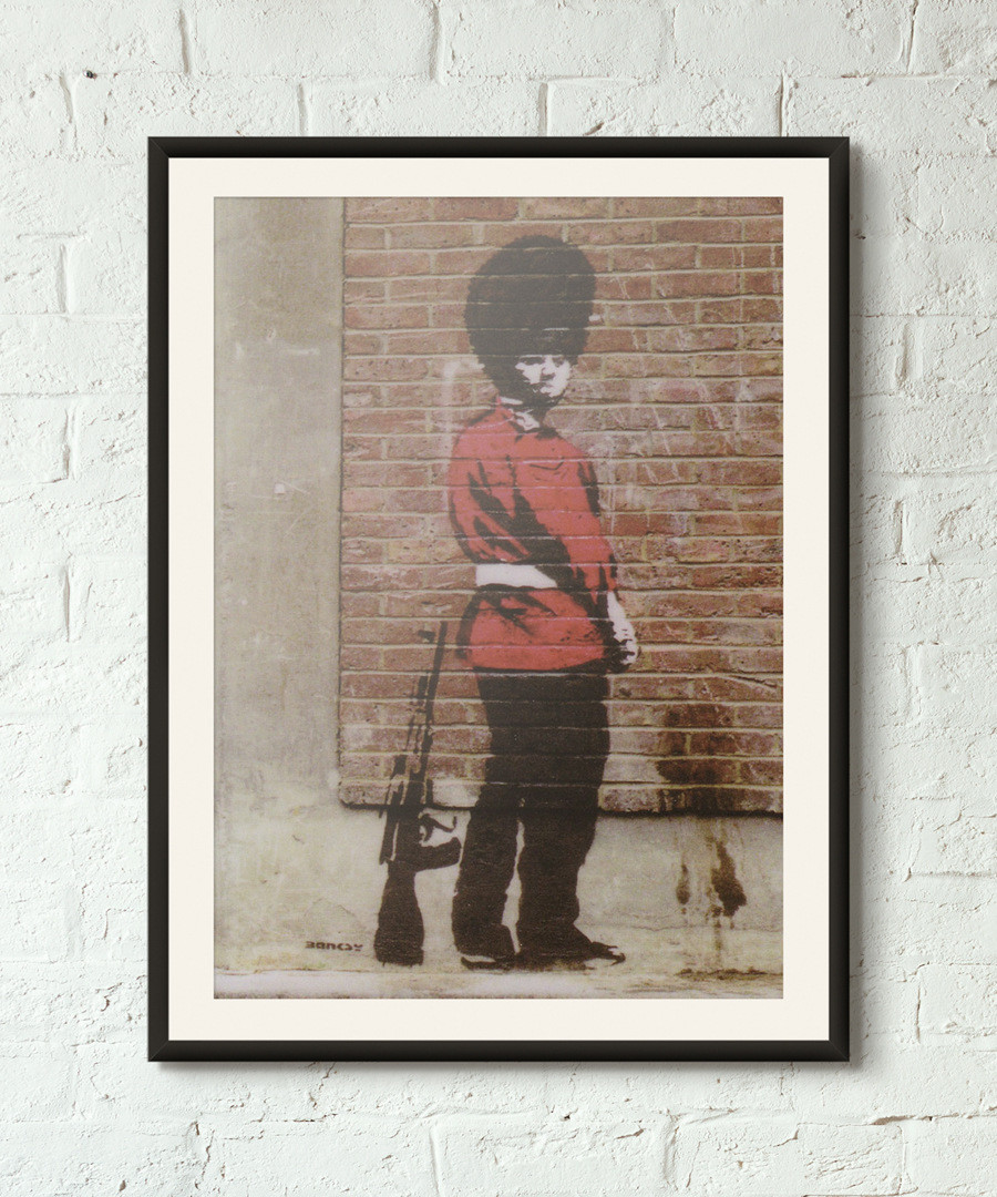 Taking The Piss framed print 40cm Sale - banksy