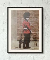 Taking The Piss framed print 40cm