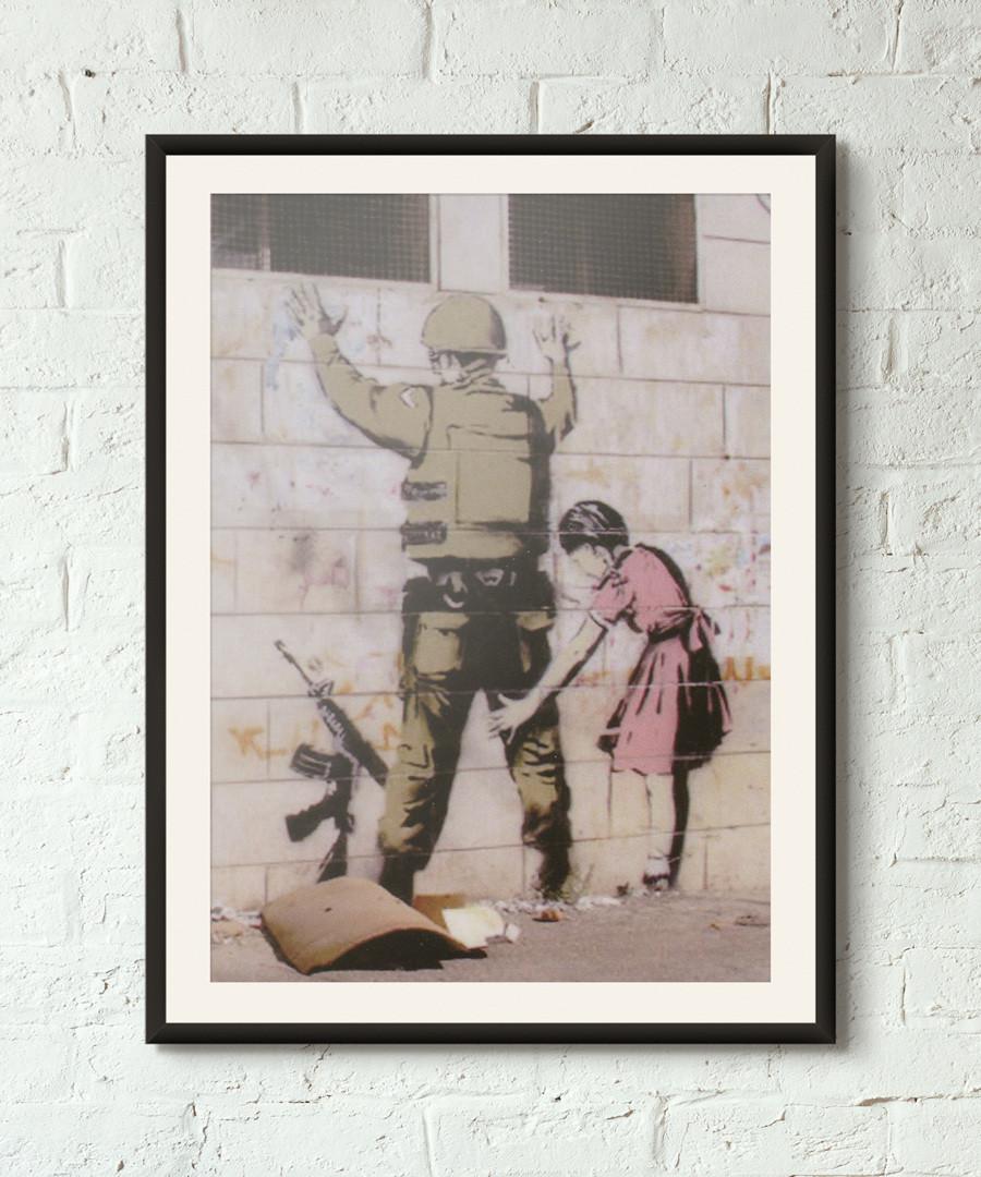 Role Reversal framed print 40cm Sale - banksy