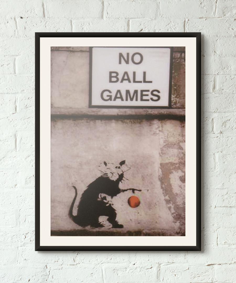 No Ball Games framed print 40cm Sale - banksy