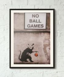 No Ball Games framed print 40cm