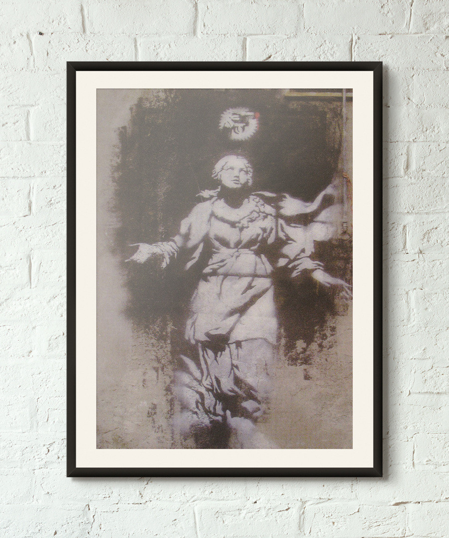 Pearly Gates framed print 40cm Sale - banksy