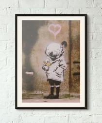 Diver Girl framed print 40cm