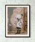Diver Girl framed print 40cm Sale - banksy Sale