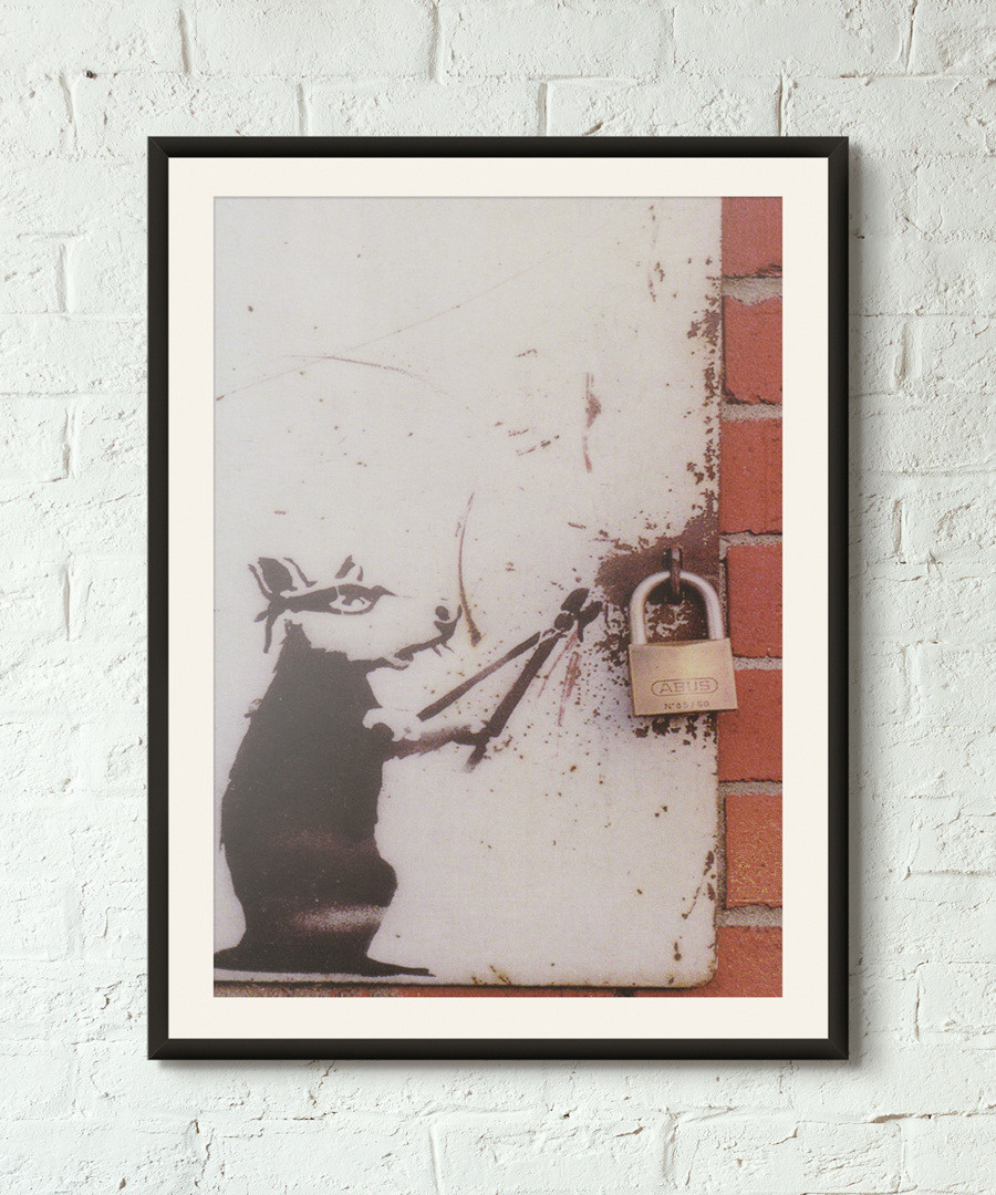 Rat Burglar framed print 40cm Sale - banksy