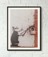 Rat Burglar framed print 40cm Sale - banksy Sale