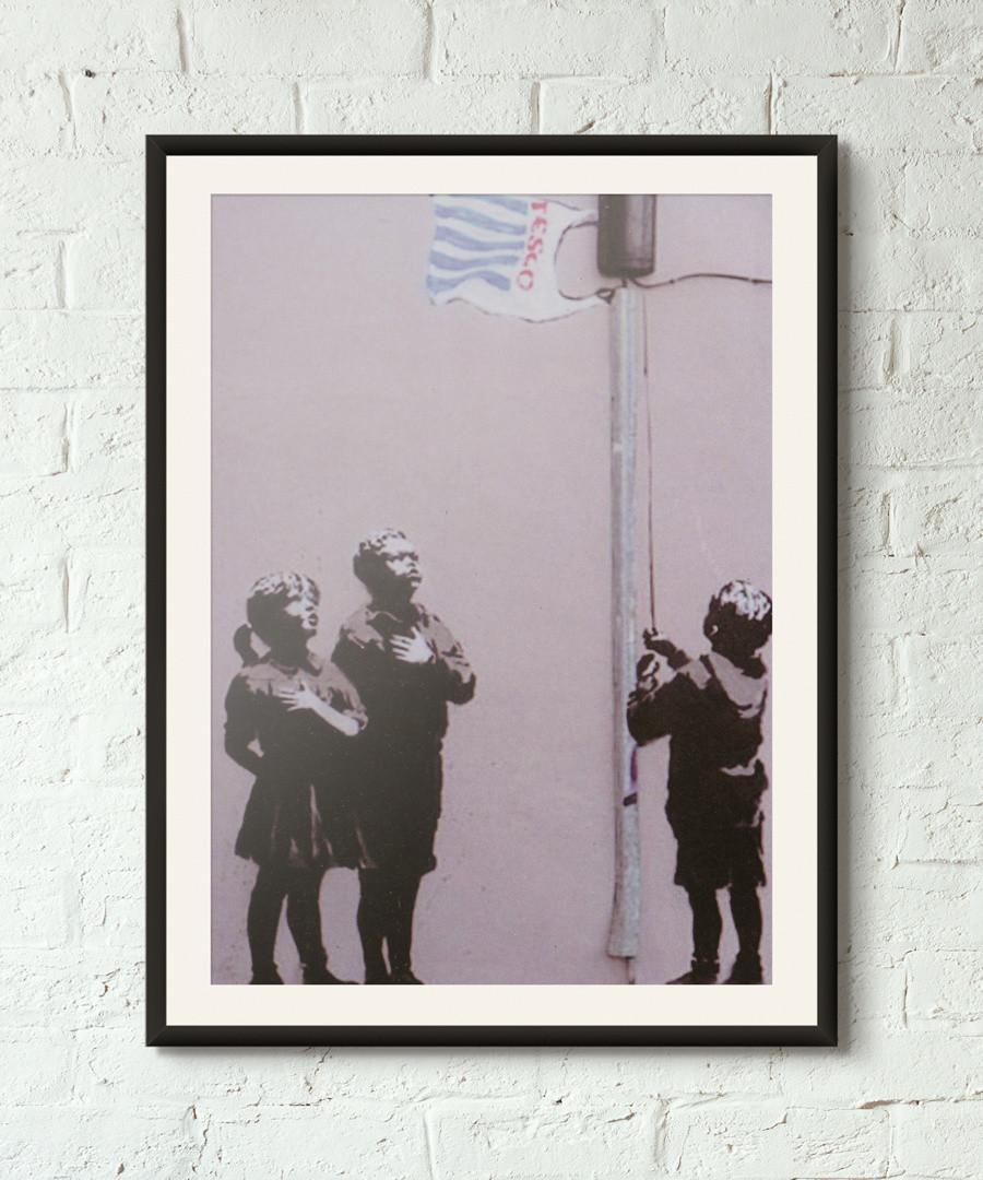 United States of Tesco framed print 40cm Sale - banksy
