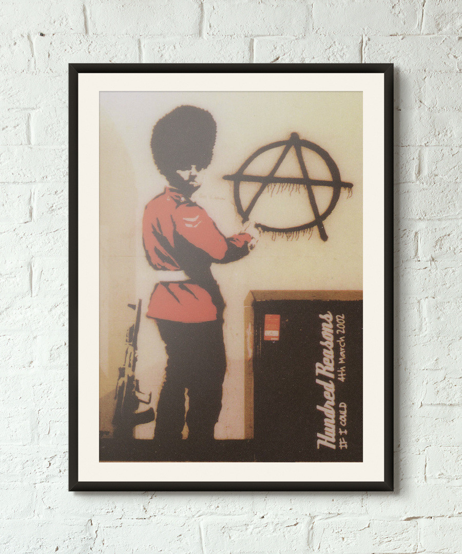 Anti Establishment framed print 40cm Sale - banksy