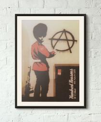 Anti Establishment framed print 40cm