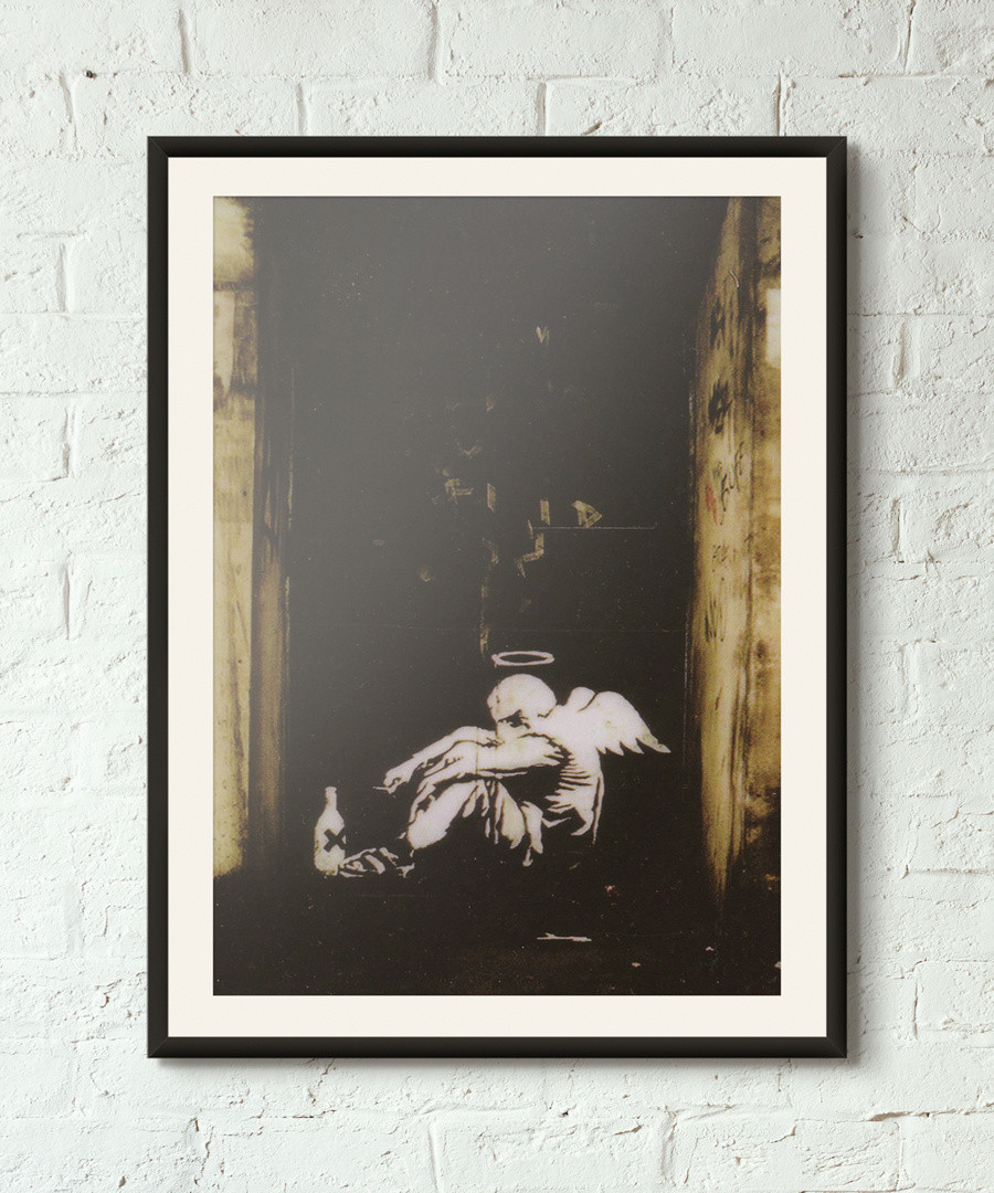 Fallen Angel framed print 40cm Sale - banksy