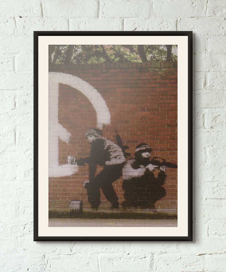 Peace Activists framed print 40cm Sale - banksy