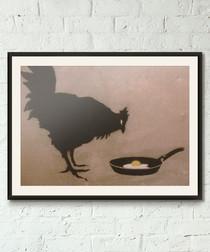 Chicken And Egg framed print 40cm