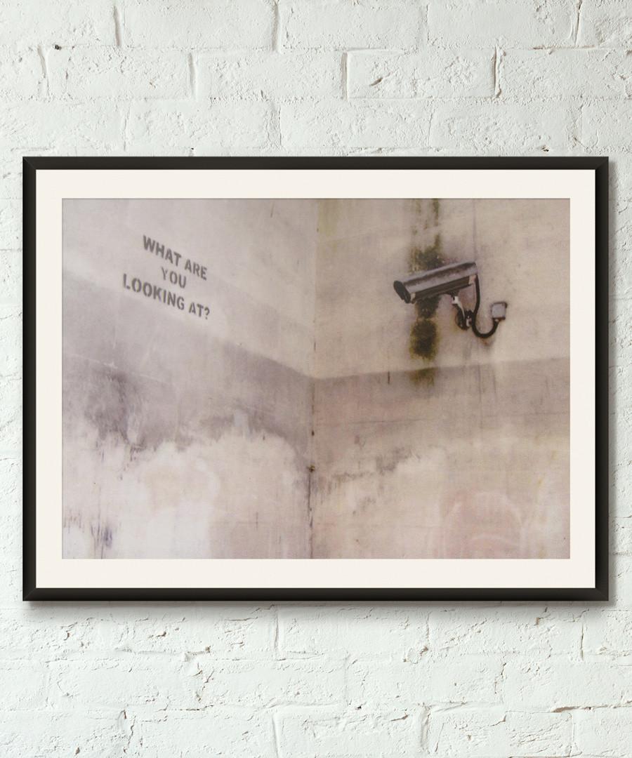 Surveillance Society framed print 40cm Sale - banksy