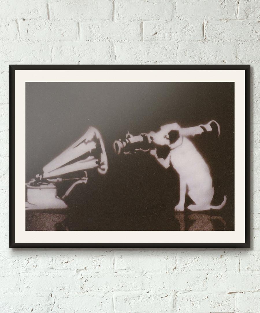 STFU framed print 40cm Sale - banksy