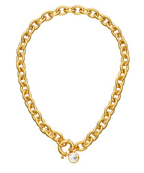18k gold-plated chunky chain necklace