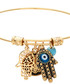 18k gold-plated hamsa charm bracelet Sale - chloe collection by liv oliver Sale