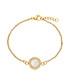 18k gold-plated crystal disc bracelet Sale - liv oliver Sale