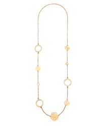 18ct gold-plated crystal rose necklace