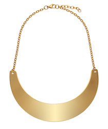 18k gold-plated collar necklace