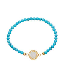 18ct gold-plated turquoise bracelet