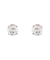 18k rose gold-plated pearl back studs
