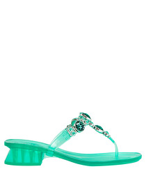 Safari mint rubber wedges