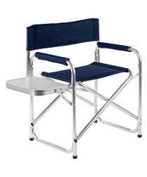 Blue aluminium table folding chair