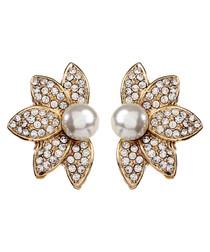 Pippa Austrian crystal pearl earrings
