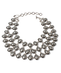 Hamptons grey reversible bib necklace