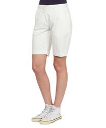 Cream satin bermuda shorts