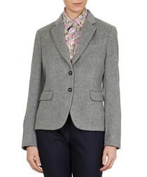 Grey alpaca-blend blazer