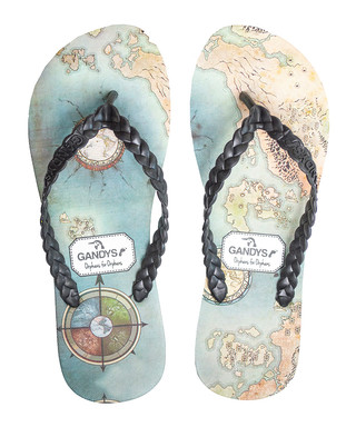 634ce5b0b1f414 Men s Map multi-coloured flip flops Sale - Gandys Sale