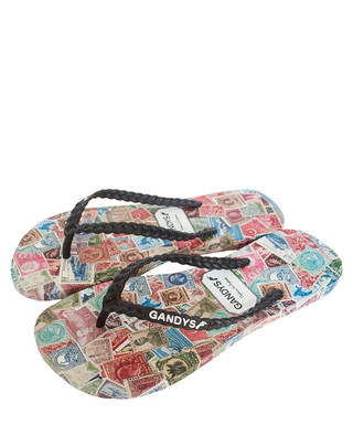 d3c85777134071 Men s Stamp multi-coloured flip flops Sale - Gandys Sale