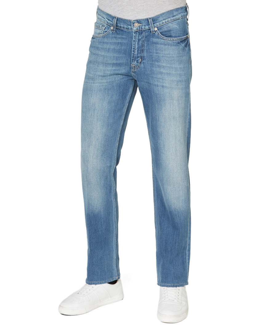 Slimmy blue cotton blend slim jeans  Sale - 7 For All Mankind